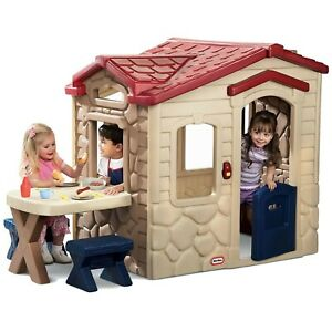 Little Tikes Picnic on the Patio Playhouse Red 45.5 x 15.5 x 47.5""