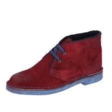 scarpe donna MISS 20 BY CORAF 38 EU polacchini bordeaux camoscio BX663-38