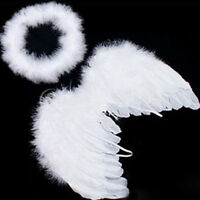 Baby Infant Newborn Angel Costume Feather Wings Cosplay Photography Props White
