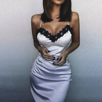 Women Sexy Lingerie Bandage Bodycon Evening Party Cocktail Club Lace Slim Dress/