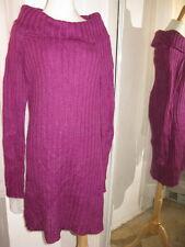 VICTORIA'S SECRET MODA INTERNATIONAL PLUM COWL NECK SWEATER DRESS L NEW