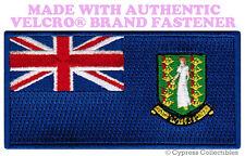 BRITISH VIRGIN ISLANDS FLAG PATCH EMBROIDERED SOUVENIR w/ VELCRO® Brand Fastener