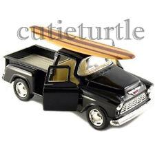 Kinsmart 1955 Chevy Stepside 3100 PickUp Truck 1:32 Diecast with Surfboard Black