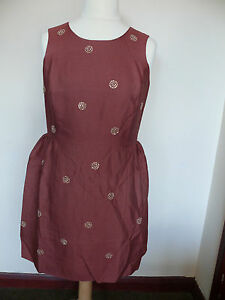 Boden Embellished Spot Dress RRP £179  Cream or Bronze *Beautiful* PARTY DRESS!!