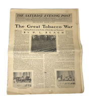 Saturday Evening Post Newspaper-THE GREAT TOBACCO WAR AUG 1907