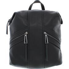 Jessica Simpson Womens Renee Black Faux Leather Boxy Backpack Medium BHFO 4472