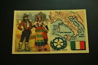 Vintage Cigarettes Card. ITALY. REGIONS OF THE WORLD COLLECTION