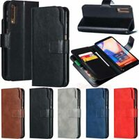 9 Card Holder Leather Wallet Flip Case Cover For Samsung S10 Plus S9 S8 A6 A7 A8