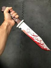 REALISTIC PU BLOODY BOWIE HUNTING KNIFE HANDHELD HORROR MOVIE PROP HALLOWEEN