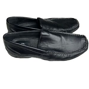 Apt.9 Mens Black Slip On Loafers Size 11 M Faux Leather Shoes Casual by Kohls