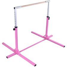 Gymnastics Junior Training Bar with Adjustable Horizontal Kip Bar for Kids Pink