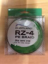 Cortland RZ-4 PE Braid - 20lb (300yd = 275M) 0.23mm Dark Green (bass,pike,lure)