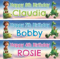 2 x Personalized Good Dinosaur Birthday Banner Nursery Children Party decoration