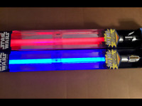 NEW STAR WARS ULTIMATE FX ANAKIN SKYWALKER and  DARTH VADER LIGHTSABERS NEW