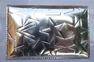 New Givenchy Men's Wallet Credit Card Case Bi-Fold CC Holder Silver