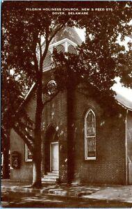 Dover Delaware Pilgrim Holiness Church New Street Reed Street 1940s Postcard