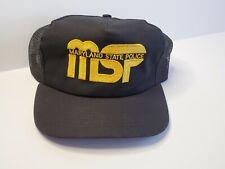VTG 80s - MSP MARYLAND STATE POLICE Snapback Trucker Hat Cap Mesh Patch NOS USA