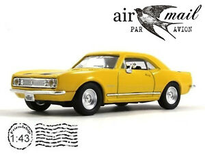 Chevrolet Camaro Z28 Yellow 1/43 Scale 1967 Model Collection Diecast Car YATMING