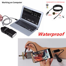 6LED USB Endoscope Inspection Camera Android PC HD Borescope Waterproof 7MM Lens