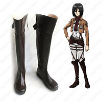Attack on Titan Shoes Anime Shingeki no Kyojin Cosplay Party Brown Boots Origina