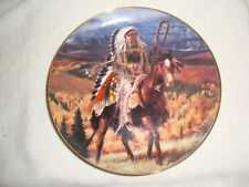 Franklin Mint - Guarding the Plains - Native American Indian Collector Plate