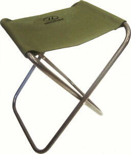 Green Folding Compact Fishing Camping Stool & Shooting Hide Seat Decoying Chair