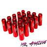 20x Aluminium Radmuttern / LugNuts M14 X 1.5 eloxiert Rot Lug Nuts 60MM