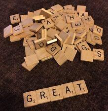 Scrabble LOT 100 WOODEN TILES REPLACEMENT PARTS SCRAP BOOKING ART & CRAFT