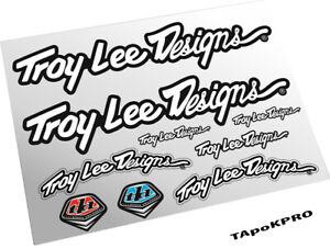 Brand New Custom Troy Lee Design logo glossy lamination stickers pack set #01
