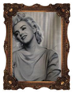 Marilyn Monroe Original Art Oil Painting Portrait Hand-Painted Canvas Unframed