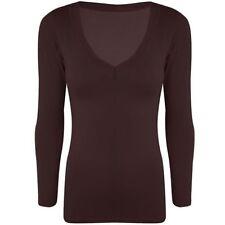 Camisetas de mujer de manga larga talla S