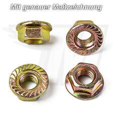 5x M6 Bundmutter Mutter Golden Metall Universal für viele Modelle u Hersteller