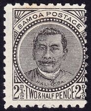 SAMOA 1896 King Malietoa Laupepa 2 1/2d black w.Star NZ MH @E2200