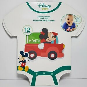 NEW Disney Baby Mickey Mouse First Year Milestone Belly Stickers