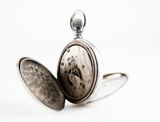 Beautiful Elgin Grade 296 Movement in Solid Coin Silver Hunter Case By Fahys 18s