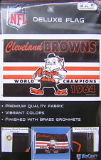 Cleveland Browns Brownie Elf 1964 World Champions 3x5 Flag EXCLUSIVE