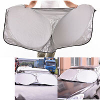 Folding Jumbo Rear Front Car Window Sun Shade Auto Visor Windshield Block  FD