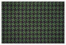 Green and Black Houndstooth Canvas Tweed Fabric 55