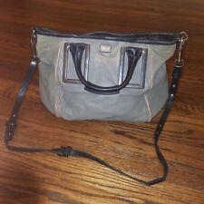Authentic CHLOE LogosEthel 2 Way Shoulder Crossbody Bag Handbag Leather Gray