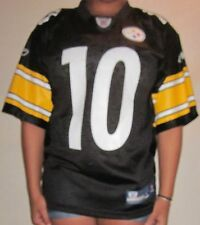 OFFICIAL NFL ONFIELD PITTSBURGH STEELERS #10 SANTONIO HOLMES JERSEY ADULT S NWOT