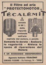 Z3597 Filtro per aria Protectmotor Técalémit - Pubblicità d'epoca - 1927 old ad