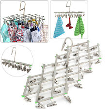 35Pegs Stainless Steel Dryer Folding Laundry Clothes Hanger Socks Hanger Rack