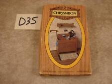 D35 Vintage Chrysnbon WASH BASIN Dollhouse Miniature Model Kit F-310 OB UNBUILT