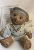 Lenox First Mate Nautical Teddy Bear Figurine Porcelain 24 KT Gold Accent Gift