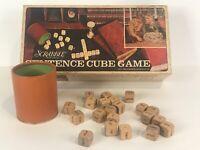 Complete Set of 21 Word Cubes Vintage Scrabble Sentence Game Crafts Dice 1971