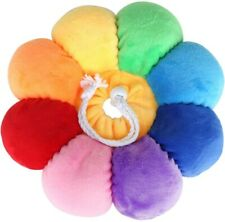 Pet Anti-bite Recovery Collar Rainbow Flower Soft Neck Cone For cat dog(medium)