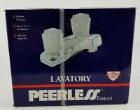 Peerless Two Handle Centerset Bathroom Faucet Model P40 Chrome New Old Stock