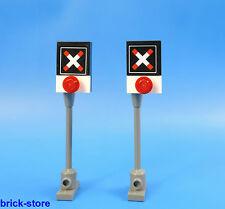 LEGO® City / 60051 City / Eisenbahn  Andreaskreuz für Bahnübergang / 2 Stück