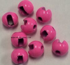 """TUNGSTEN SLOTTED FLY TYING BEADS HOT PINK 4.0 MM 5/32 """" 100 COUNT"""