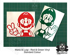 Super Mario and Luigi Kart Bros Vinyl Wall TWO Stickers Light Switch 22 colours